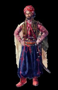 Kurdische Tracht der Kurden aus Georgien