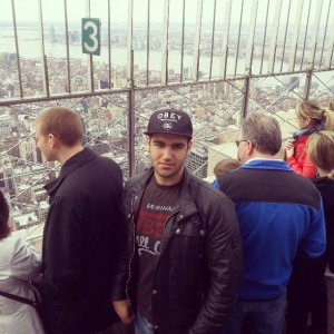 Serhat Kizilhan am Empire State Building (privat)